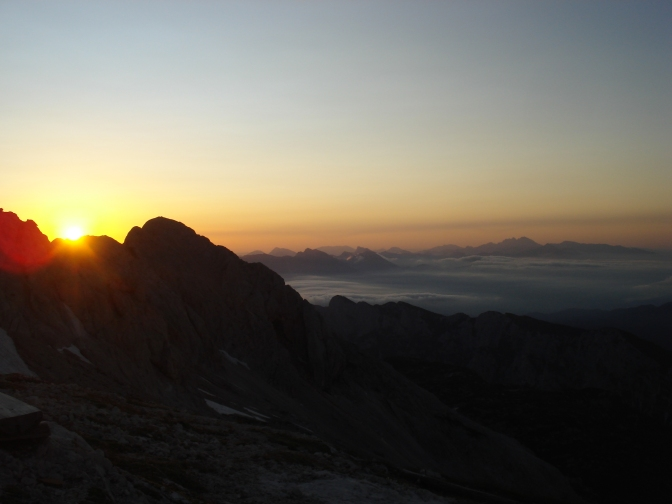 Sunrise Below Triglav 2500 m asl