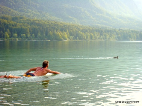 Duck Chaser @ Lake Bohinj