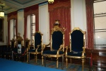 The Chairs Of The Thrones, Freemasons United Grand Lodge, London UK