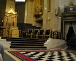 The Headmaster's chair, The Grad United Lodge, Freemasons, London UK
