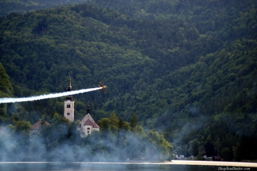 Island Flyover, Bled Slovenia