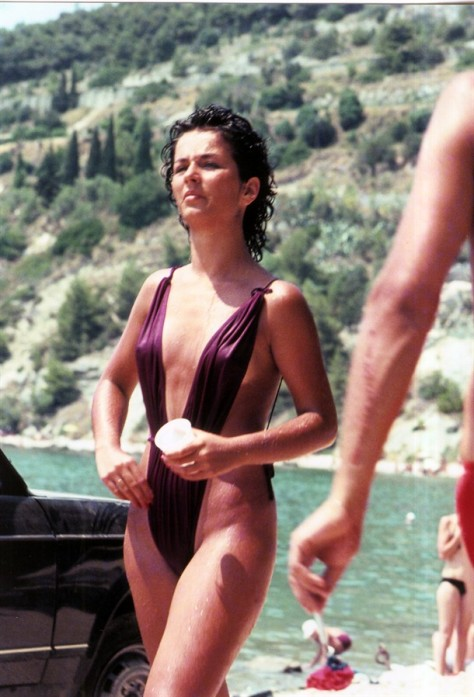 Sexy Bikini Beach In The Summer Of 1985, Split Croatia