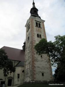 The Church On The Island Of Lake Bled