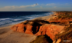 Red Rocks in Red Light, Almagreira Beach, Portugal