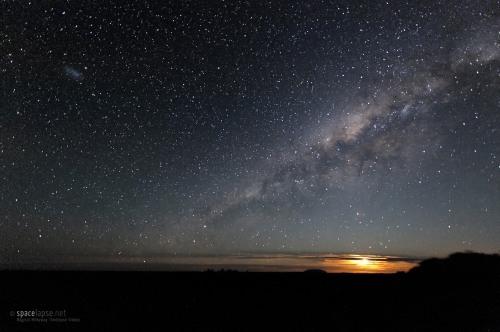 Milky Way Sky  - Uluru (Ayers Rock) - Moonset