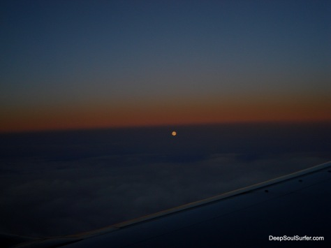 Moon Above Sweden From A Plane