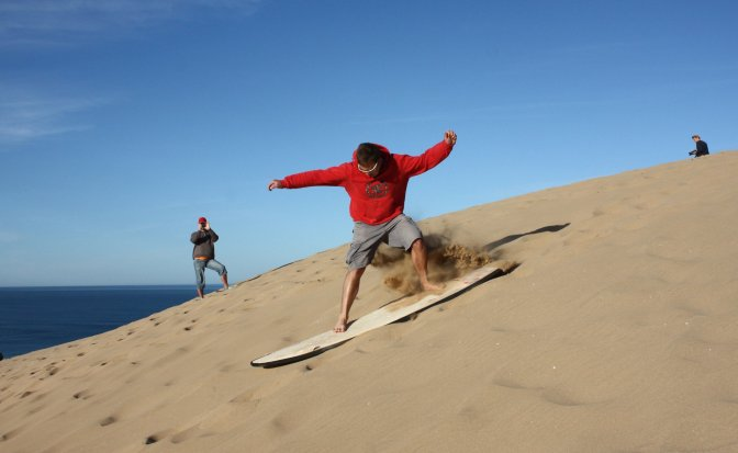 Sand Surfing, Morocco