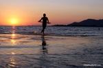 Lukas Skim Boarding Into The Sunset @ Neretva Kitesurf Center, Neretva River, Croatia