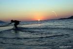 Skim Boarding Into The Sunset @ Neretva Kitesurf Center, Neretva River, Croatia