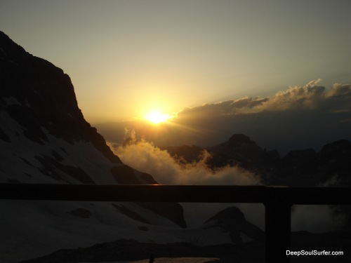 A Godly Sunset At The Triglav Mountain
