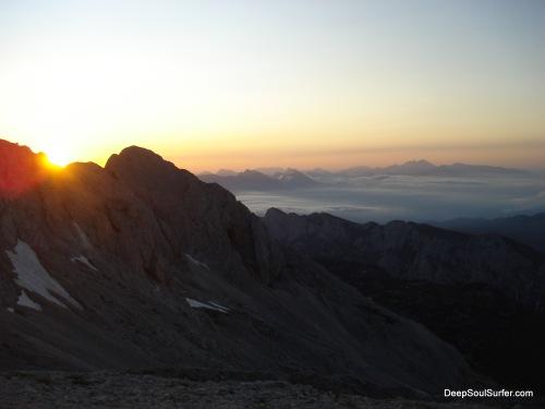The First Sight Of The First Sunlight, Triglav Mountain, Slovenia