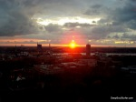 Sunset Over Riga, From Skybar, Hotel Latvia, Riga, Latvia
