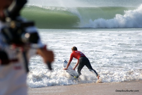 Taj Burrow, Paddle To The Tbue, Rip Curl Pro, Supertubos, Portugal