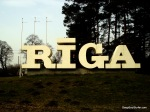 Welcome to Riga Road Sign, Riga, Latvia