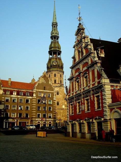 Saint Peter's Church And The House Of Blackheads, Riga, Latvia