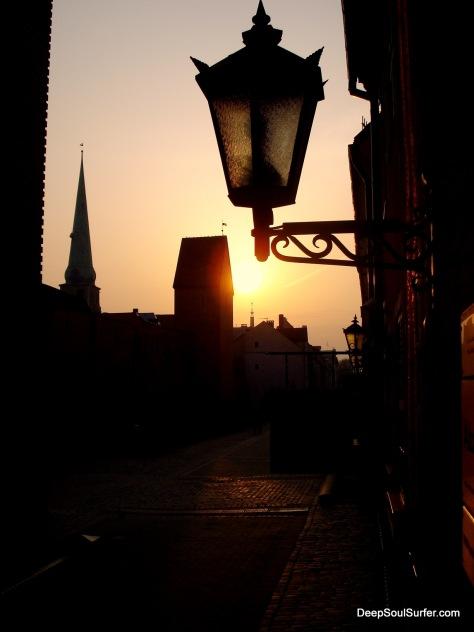 Sunset In Old RIga, Latvia