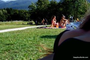 Beautiful Bikini Topless Beach, Bohinj Slovenia