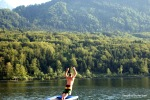 Jumping In The Pure Alpine Water, Lake Bohinj, Slovenia