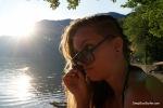Relaxing Sunset, Lake Bohinj, Slovenia