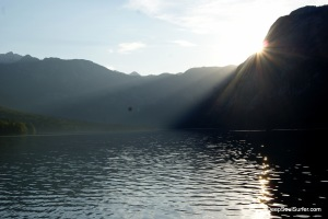 Amazing Nightfall, Lake Bohinj Slovenia