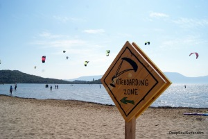 Kite-boarding Zone Kaikala, Neretva River, Croatia