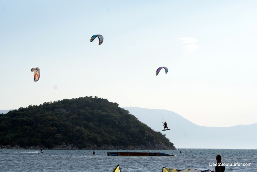Kite-surfing Jump, Neretva Rver, Croatia