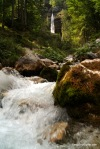 River Side View Of The Peričnik Waterfall, Slovenia