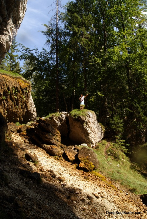 My Sister At The Peričnik Waterfall, Slovenia