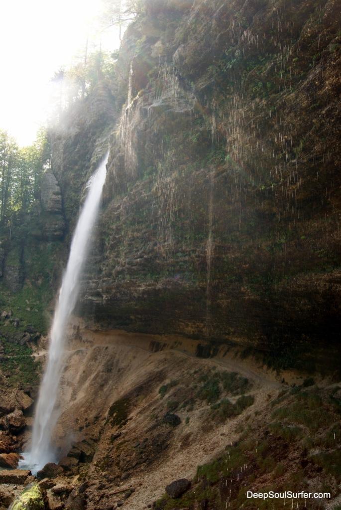 Chill Down Waterfall - The Waterfall Peričnik, Slovenia
