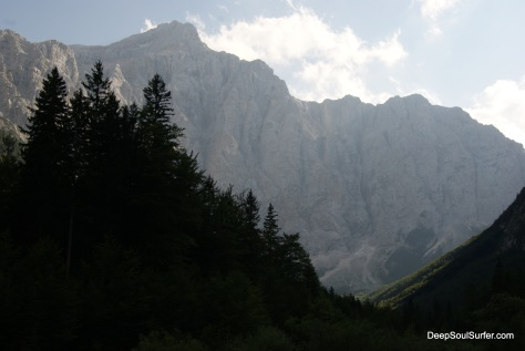 The 1850 Meters-high North Wall Of Triglav