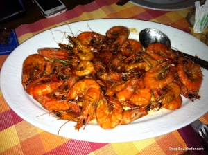 Grilled Shrimps With Mandarin Honey, Dalmatian Speciality