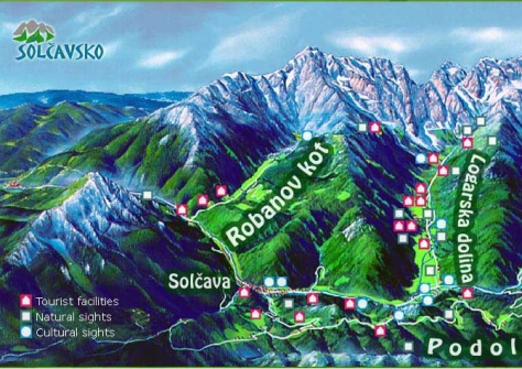 Logarska Dolina Tourist Attraction Map