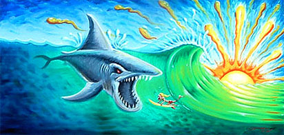 Surf Art - Sharky Attack