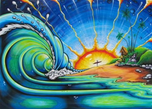 Surf Art - Sunny Waves