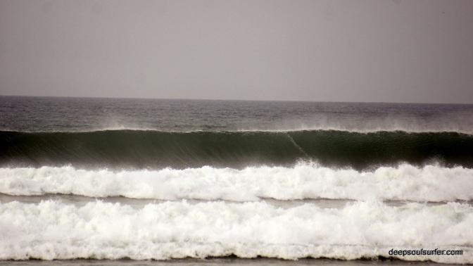 Big Ofshore Waves On Baleal Beach, Pencihe, Portugal