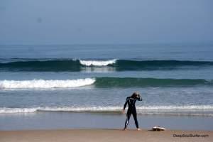 Surfing Baleal Beach, Portugal