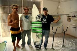 The Shapers at Custom Glas - ready for express repair of John John Florence Surfboard