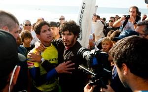 Gabreil Medina, Father - Rip Curl Pro Portugal 2012