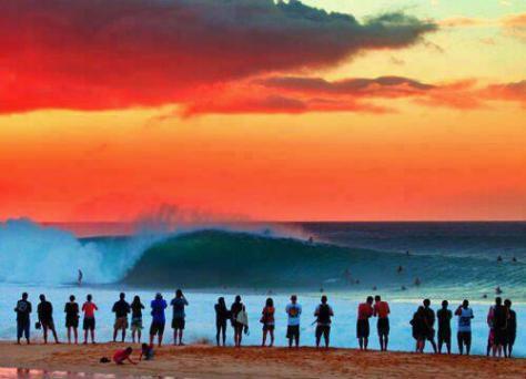 Pipeline Sunset, Hawai
