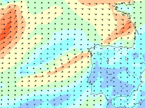 Storm Aproaching Peniche, Portugal, RIp Curl Pro Portugal 2012 by: magicseaweed.com