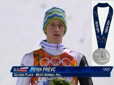 Peter Prevc Silver Sochi 2014