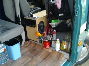 New wooden floor in Globe  Cruiser 3.0